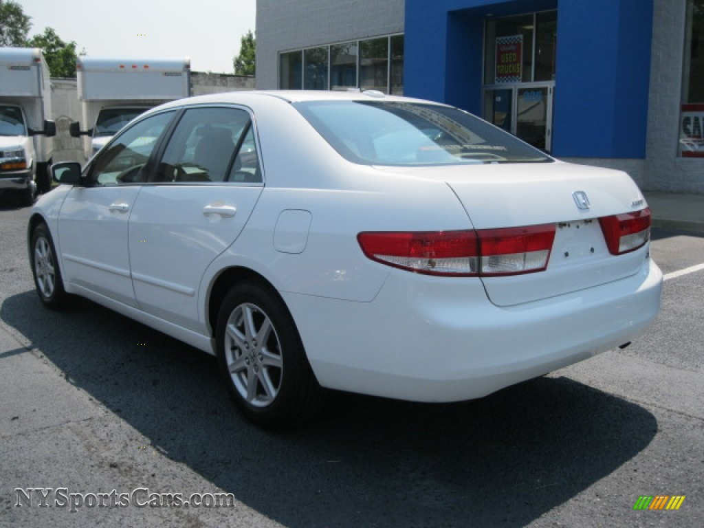 Nice 2004 Accord EX V6 Sedan   Taffeta White / Ivory Photo #3