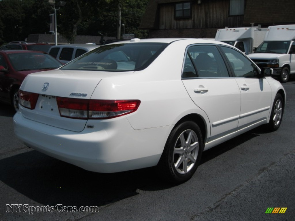 2004 honda accord ex v6 sedan in taffeta white photo 4 044883 cars for. Black Bedroom Furniture Sets. Home Design Ideas