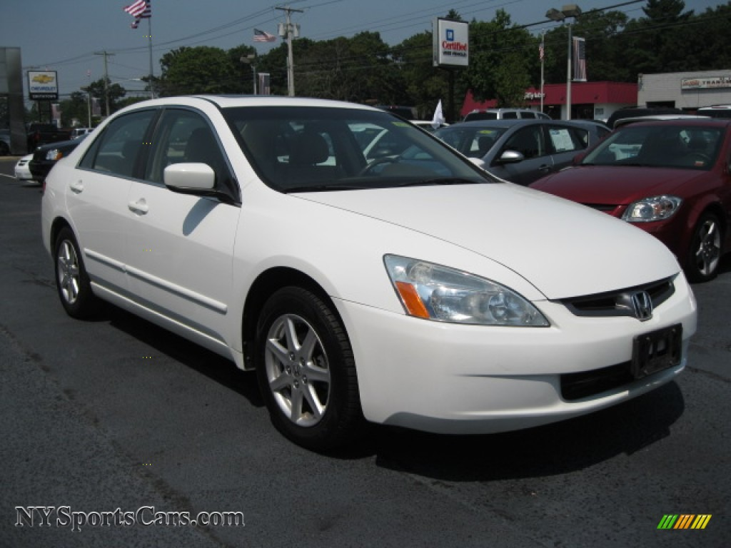 2004 honda accord ex v6 sedan in taffeta white photo 5 044883 cars for. Black Bedroom Furniture Sets. Home Design Ideas