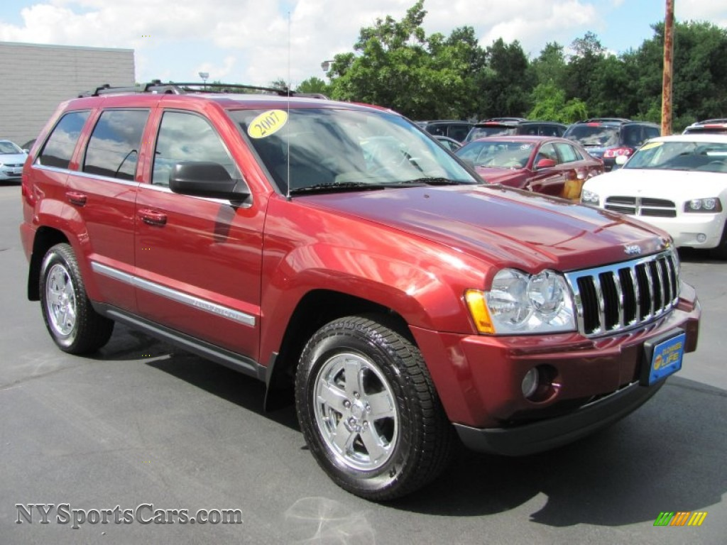 2007 jeep grand cherokee limited 4x4 in red rock crystal pearl