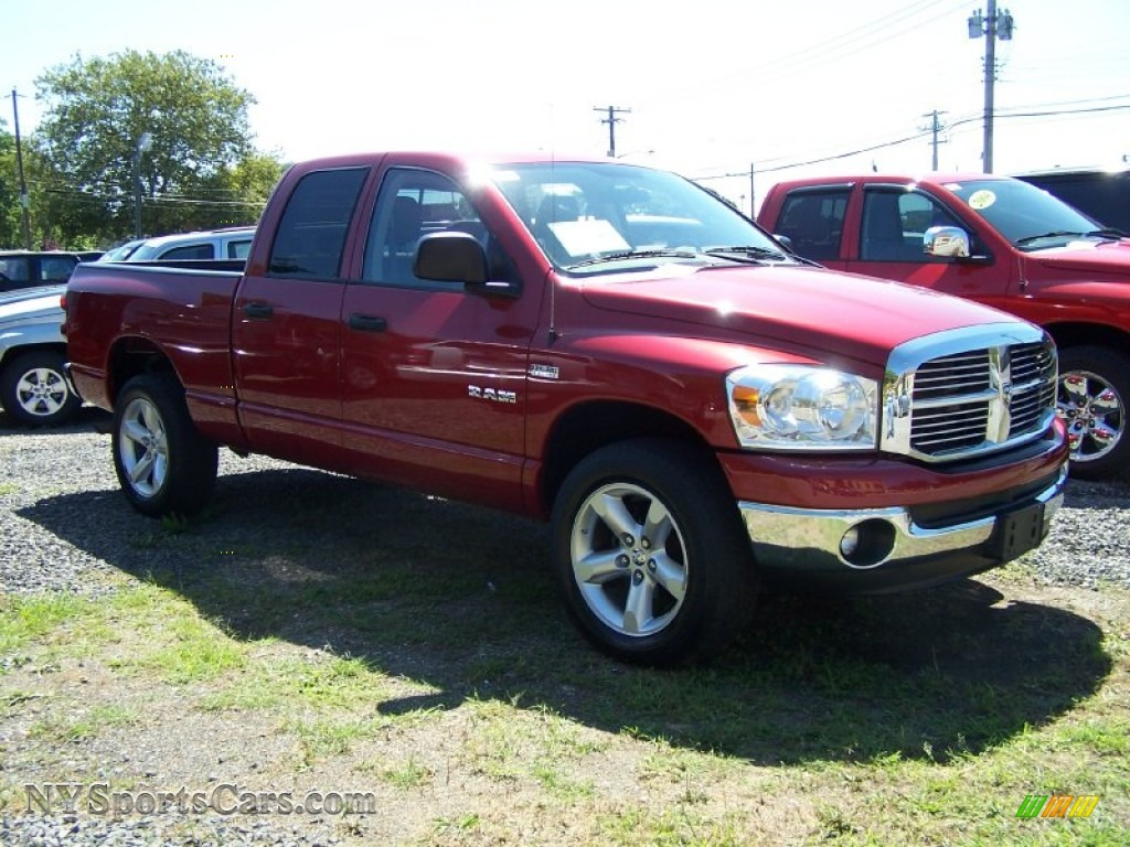 2008 dodge ram 1500 big horn edition quad cab 4x4 in inferno red crystal pearl photo 3 571845. Black Bedroom Furniture Sets. Home Design Ideas