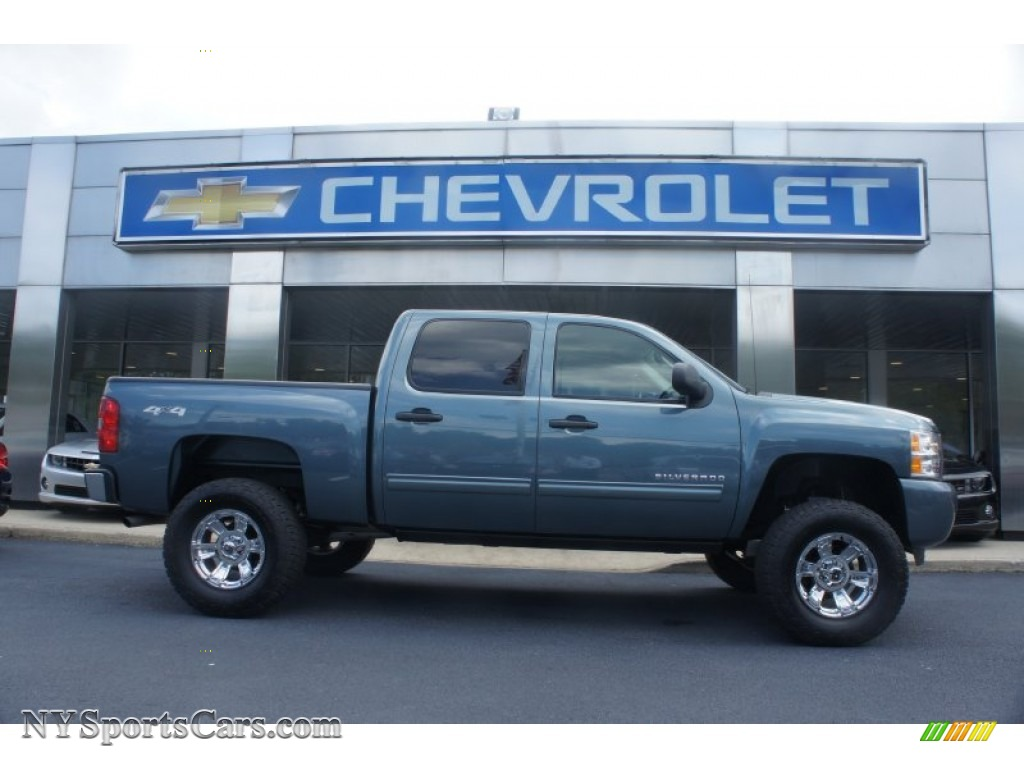 2010 Chevrolet Silverado 1500 Lt Crew Cab 4x4 In Blue