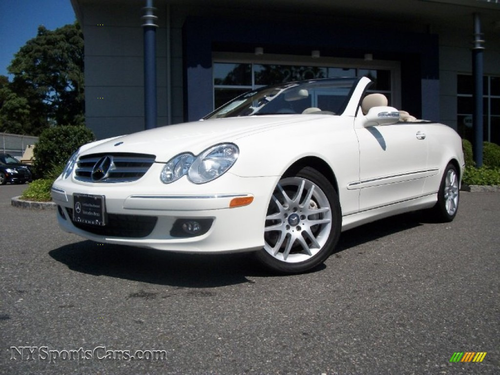 2009 mercedes benz clk 350 cabriolet in arctic white for Mercedes benz clk350 for sale