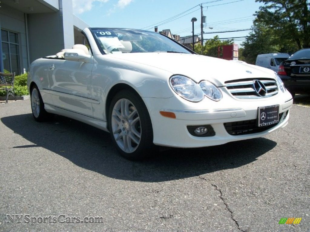 2009 mercedes benz clk 350 cabriolet in arctic white photo for Mercedes benz clk350 for sale