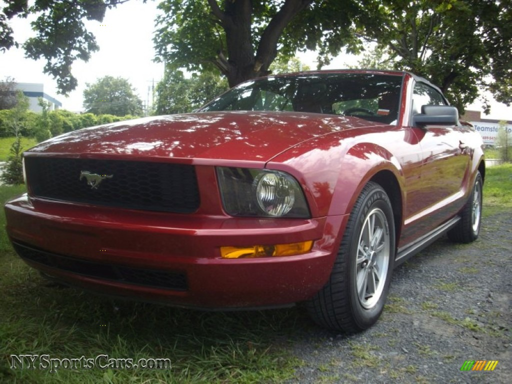 2005 ford mustang v6 premium convertible in redfire metallic 253158 cars. Black Bedroom Furniture Sets. Home Design Ideas