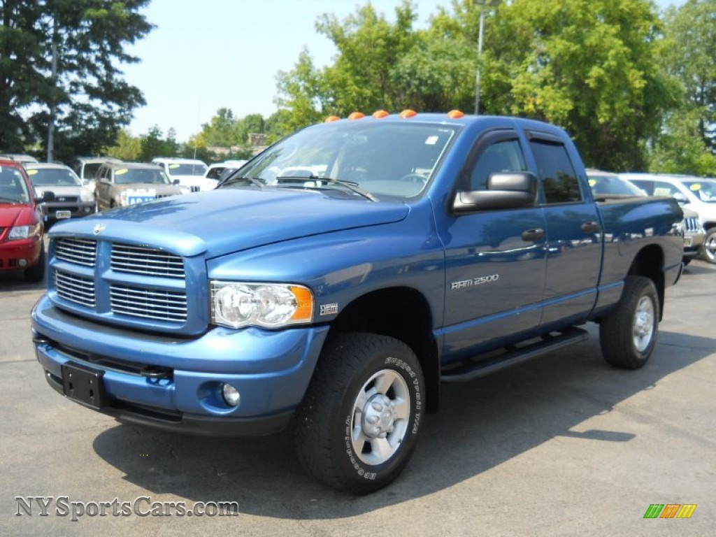 2003 Dodge Ram 2500 Slt Quad Cab 4x4 In Atlantic Blue Pearl 810018 Nysportscars Com Cars For Sale In New York