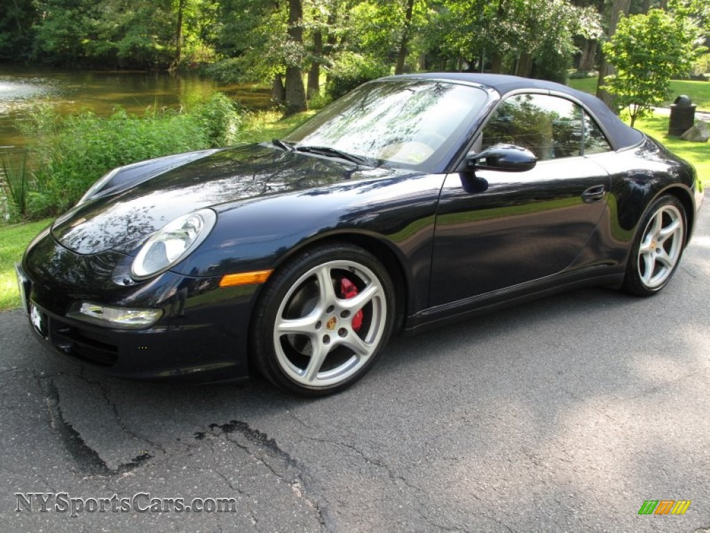 2008 porsche 911 carrera 4s cabriolet in midnight blue. Black Bedroom Furniture Sets. Home Design Ideas