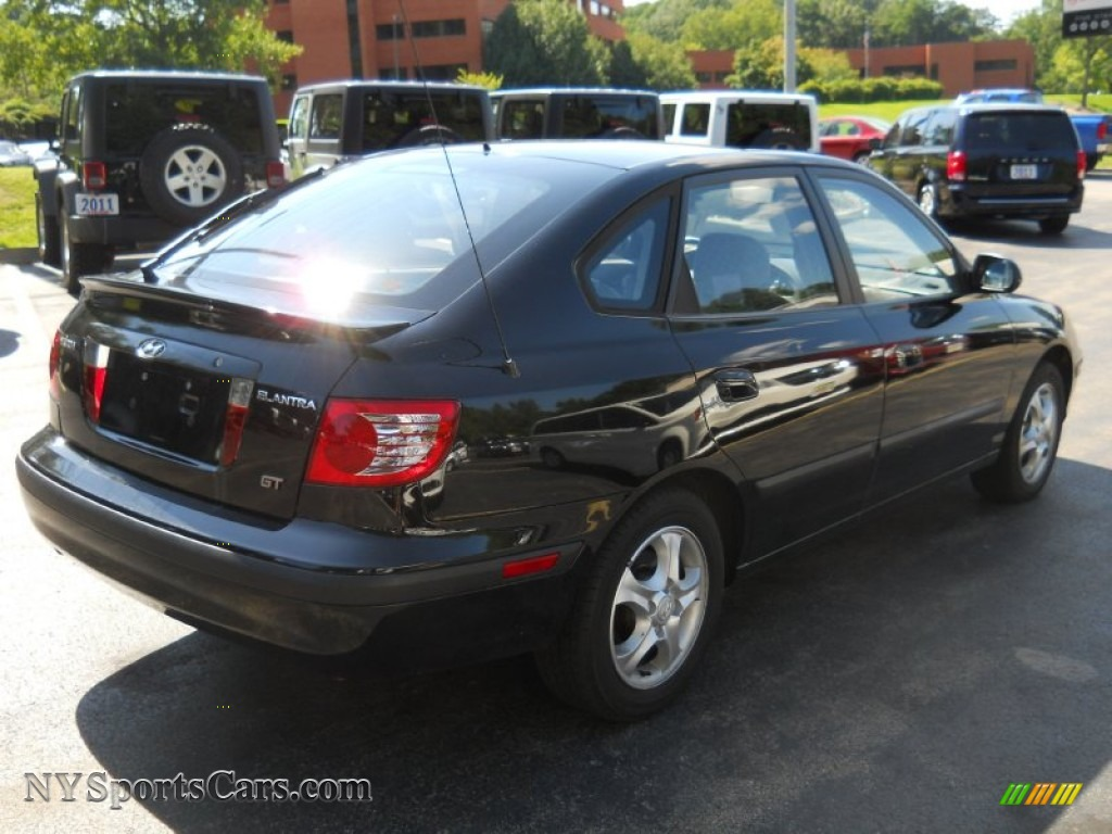 2004 hyundai elantra gt hatchback in black obsidian photo 2 127512 nysportscars com cars for sale in new york nysportscars com