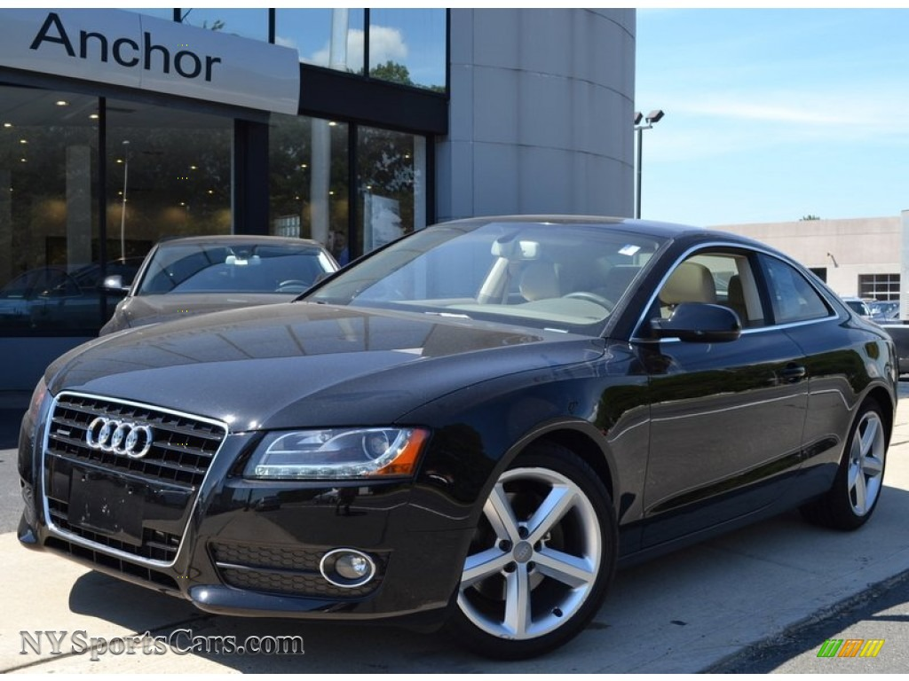 black audi 2010. 2010 a5 32 quattro coupe brilliant black linen beige photo 1 audi