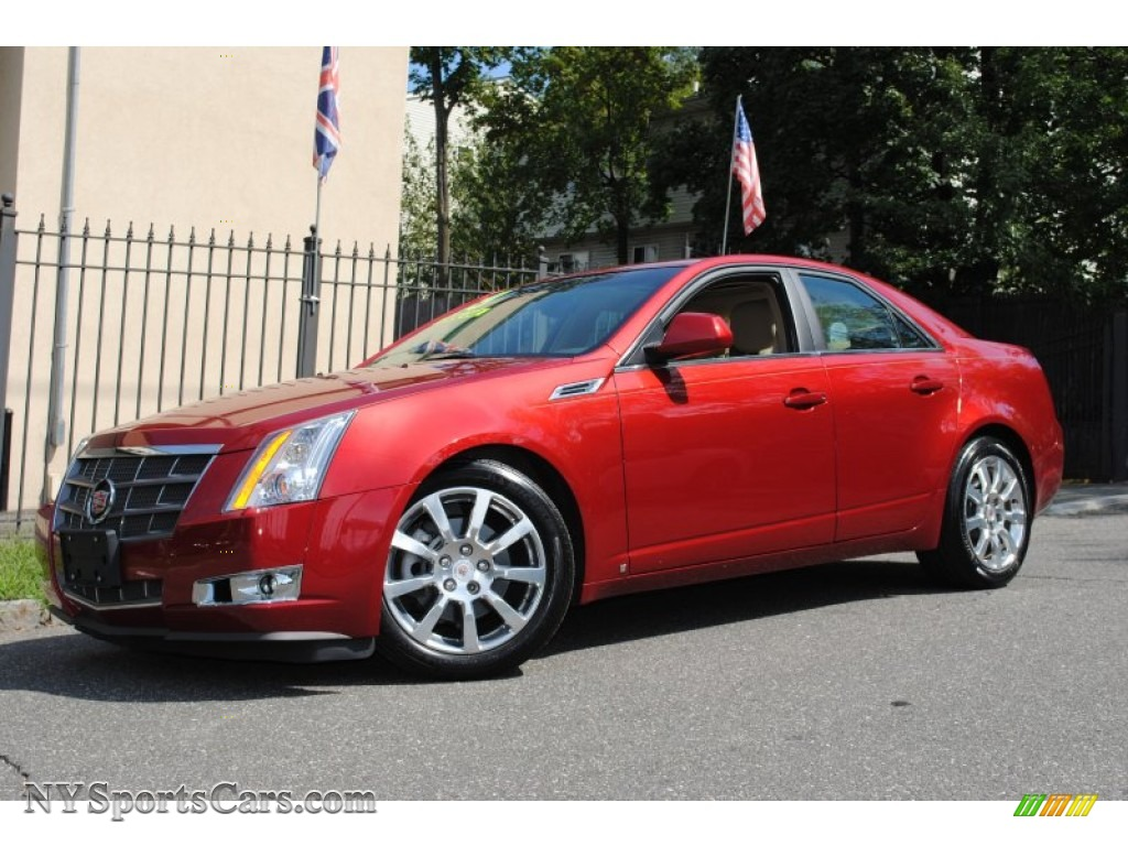 2009 cadillac cts 4 awd sedan in crystal red 130409 cars for sale in new york. Black Bedroom Furniture Sets. Home Design Ideas
