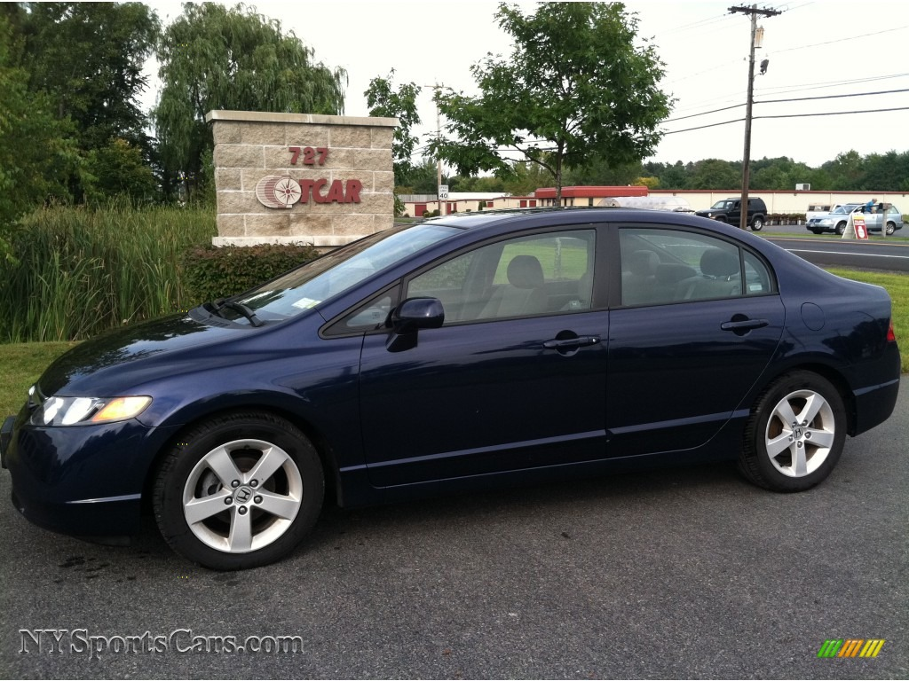 2007 Honda Civic Ex Sedan In Royal Blue Pearl 503126