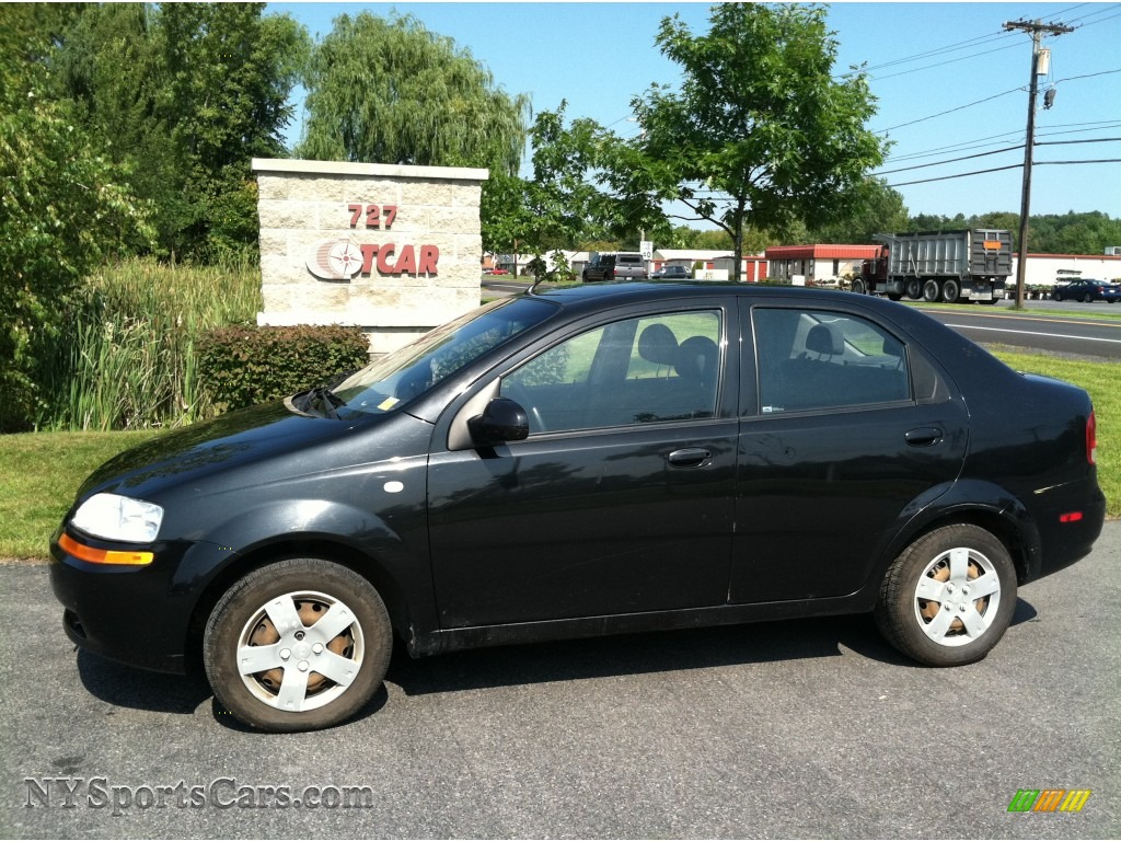 2006 chevrolet aveo ls sedan in black 587067. Black Bedroom Furniture Sets. Home Design Ideas