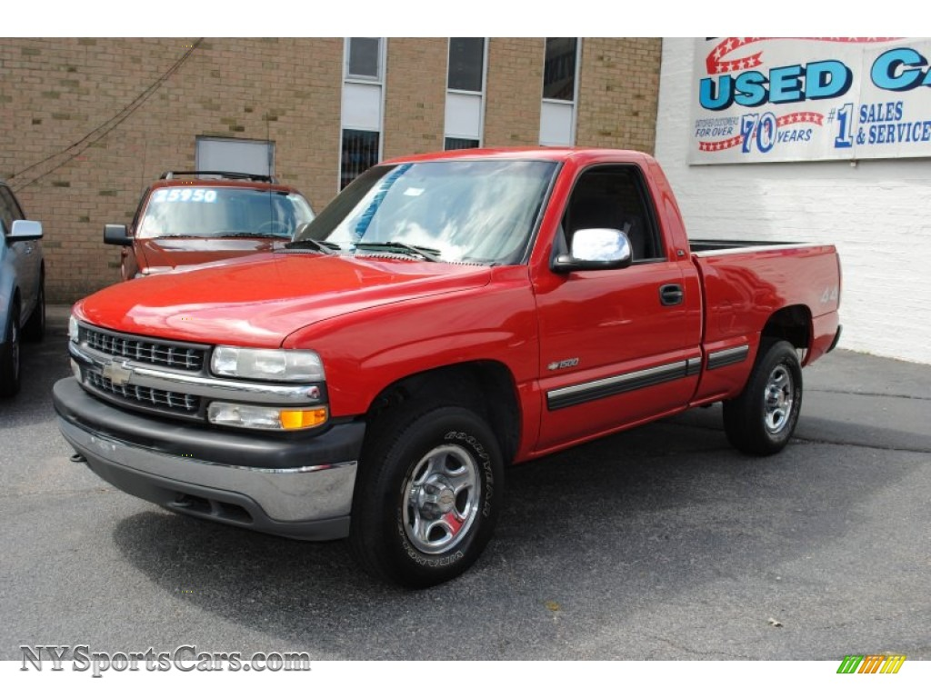 2002 chevrolet silverado 1500 ls regular cab 4x4 in victory red 300836. Black Bedroom Furniture Sets. Home Design Ideas