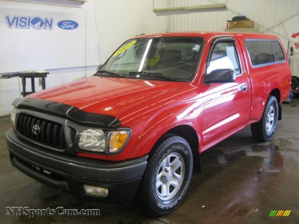 2002 toyota tacoma regular cab in radiant red 078907 cars for sale in new. Black Bedroom Furniture Sets. Home Design Ideas