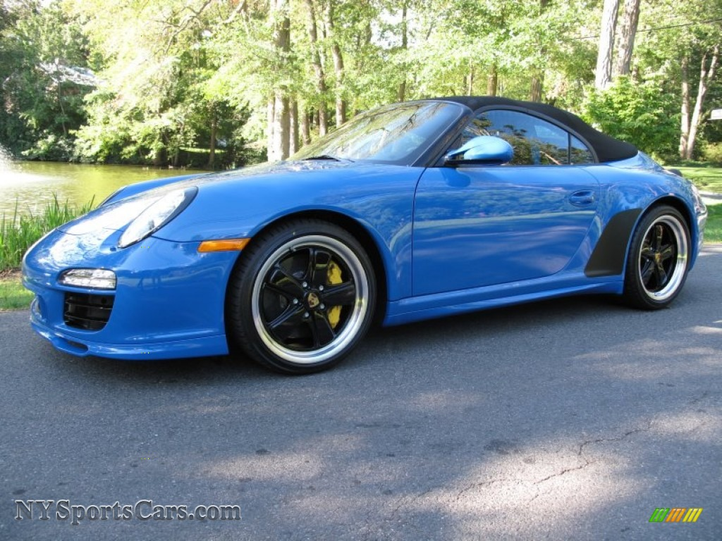 2011 porsche 911 speedster in pure blue 795655. Black Bedroom Furniture Sets. Home Design Ideas