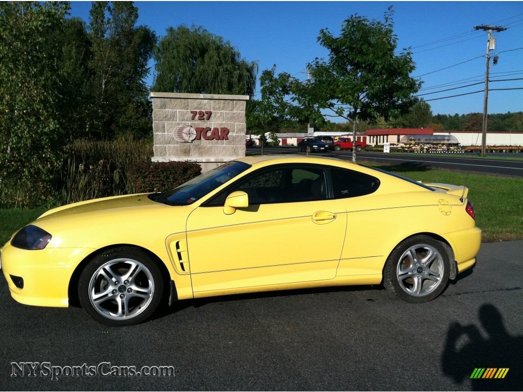 2006 Hyundai Tiburon GT in Sunburst Yellow - 221415 | NYSportsCars