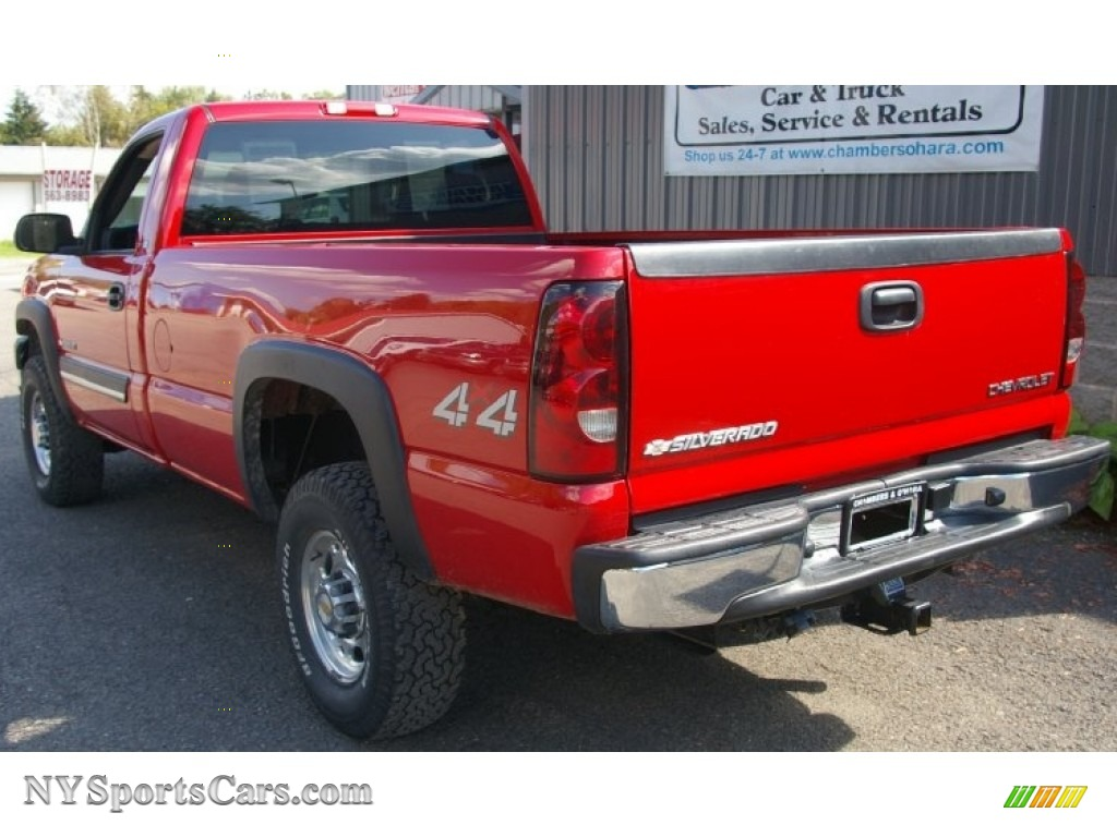 2004 chevrolet silverado 2500hd ls regular cab 4x4 in victory red photo 6 218168. Black Bedroom Furniture Sets. Home Design Ideas