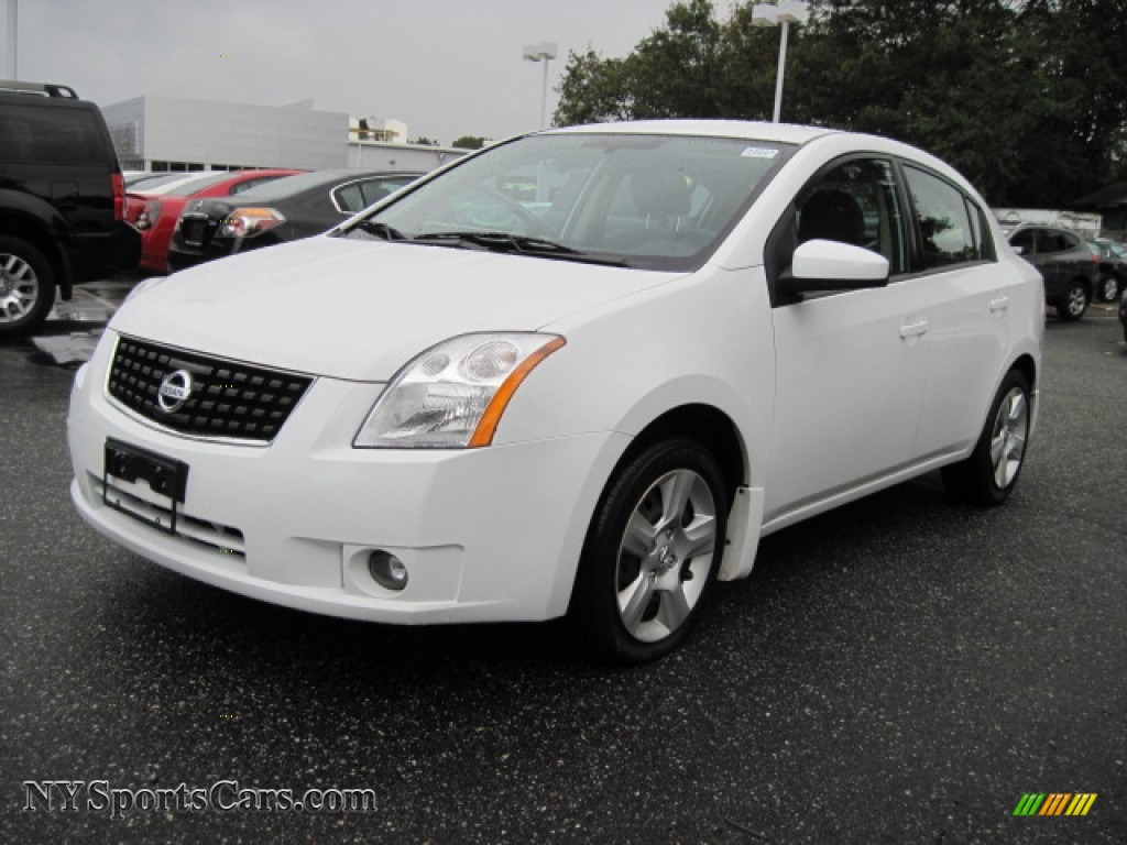 2008 nissan sentra 2 0 s in fresh powder white 721148. Black Bedroom Furniture Sets. Home Design Ideas