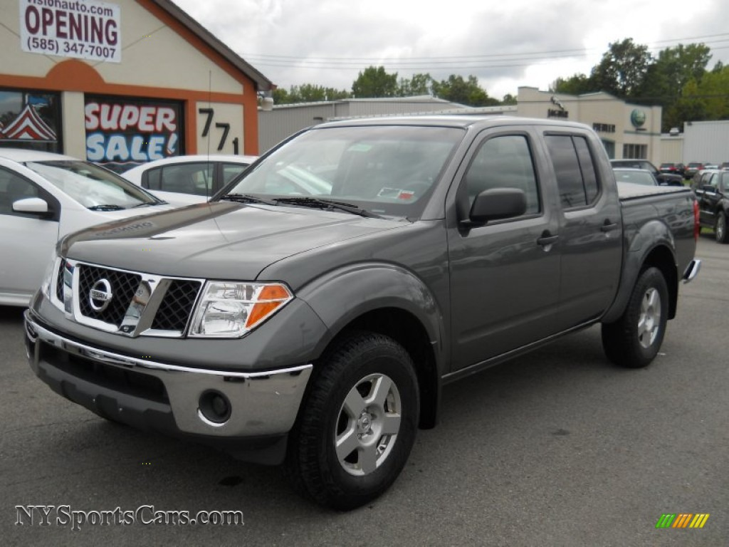 2008 nissan frontier se crew cab 4x4 in storm grey. Black Bedroom Furniture Sets. Home Design Ideas