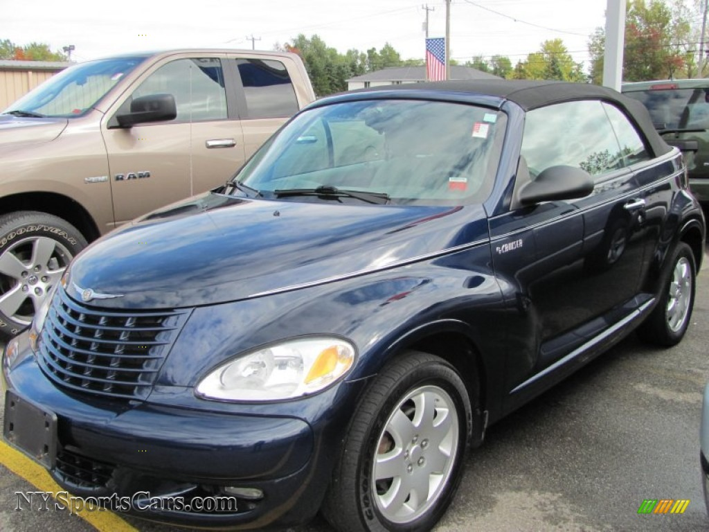 2005 chrysler pt cruiser touring turbo convertible in midnight blue pearl 525511. Black Bedroom Furniture Sets. Home Design Ideas