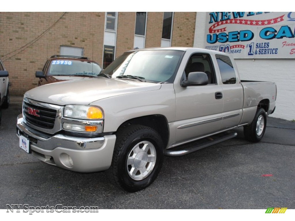 2004 gmc sierra 1500 sle extended cab 4x4 in silver birch. Black Bedroom Furniture Sets. Home Design Ideas