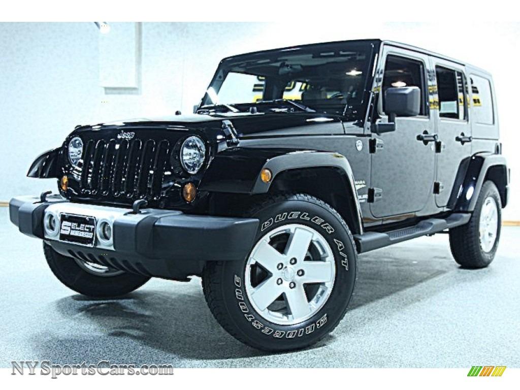 2009 jeep wrangler unlimited sahara 4x4 in black 751256 cars for sale in. Black Bedroom Furniture Sets. Home Design Ideas