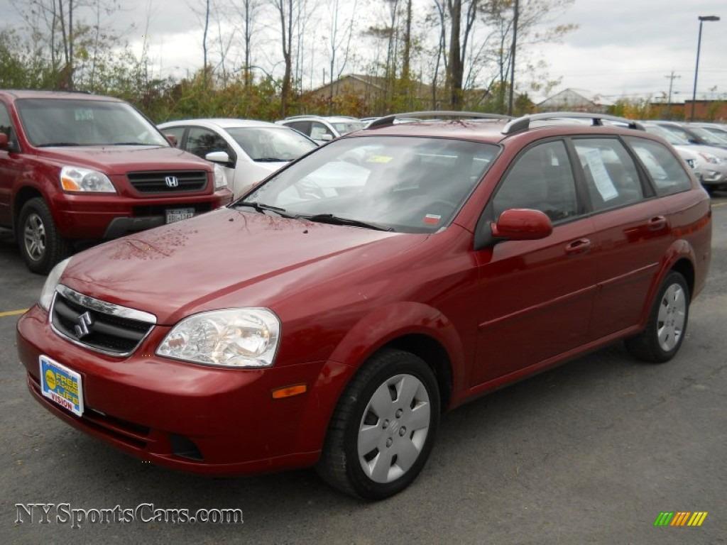 2006 Forenza Wagon Fusion Red Metallic Grey Photo 1