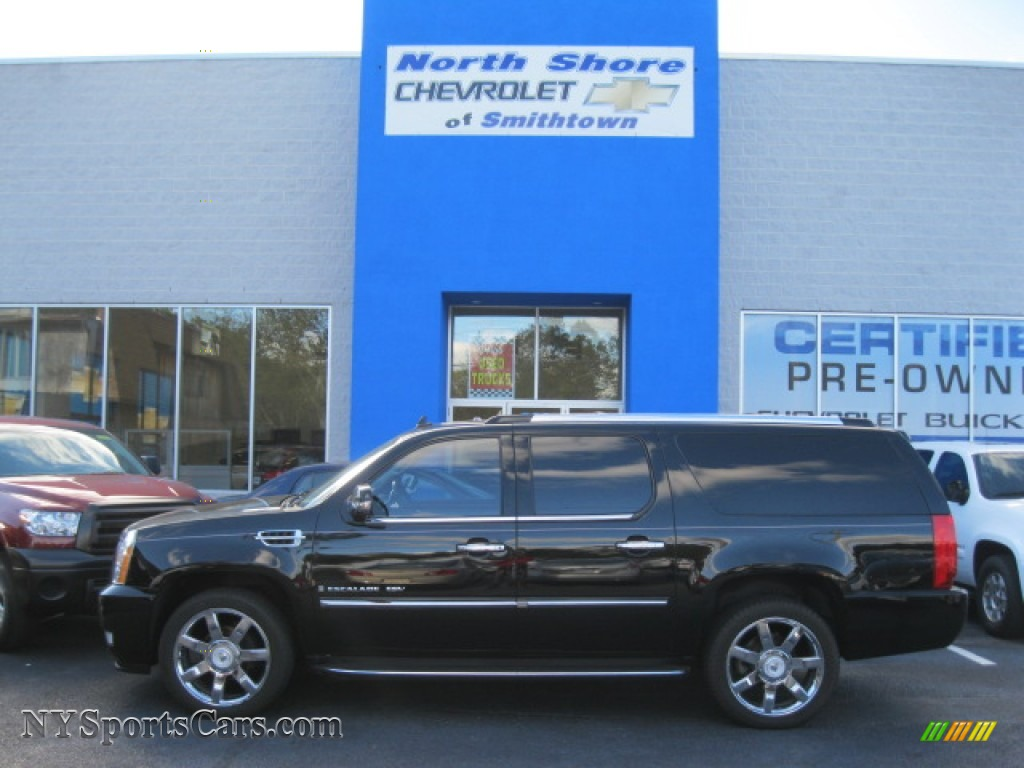 2007 cadillac escalade esv awd in black raven 430783 cars for sale in new. Black Bedroom Furniture Sets. Home Design Ideas