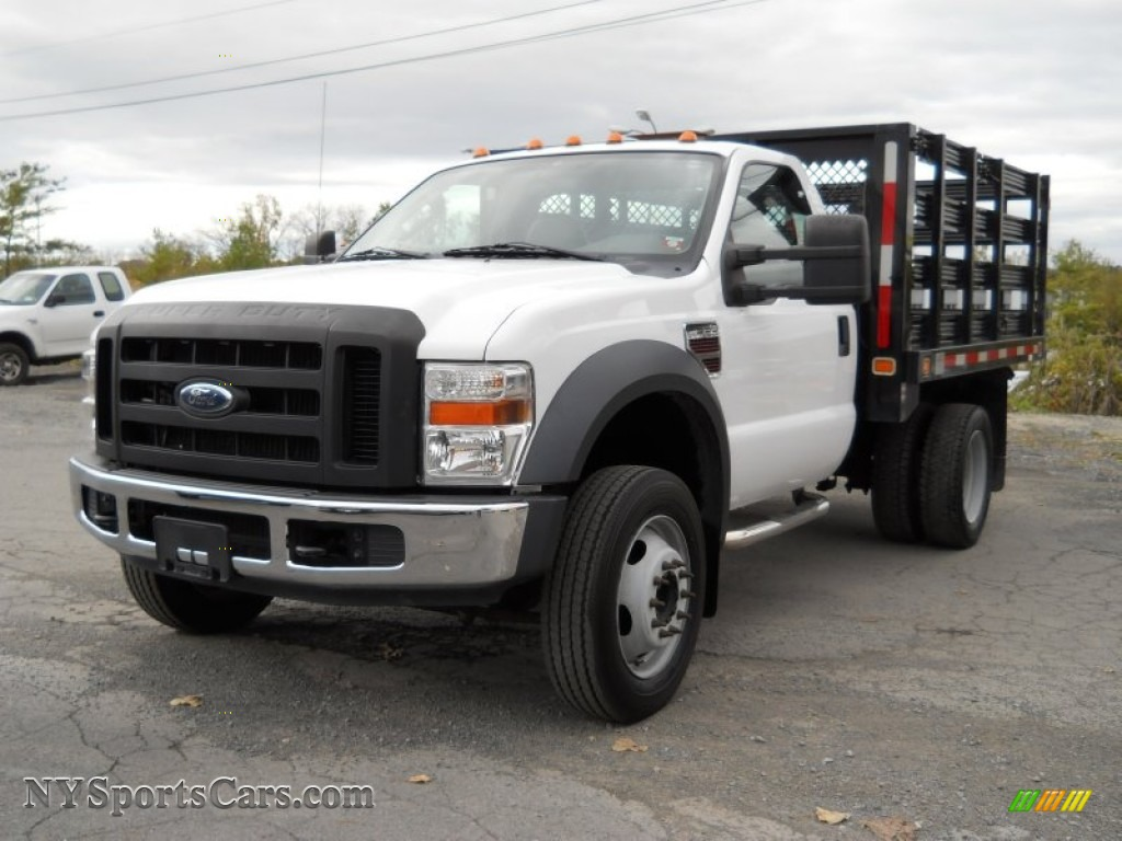 2008 ford f550 super duty xl regular cab chassis stake truck in