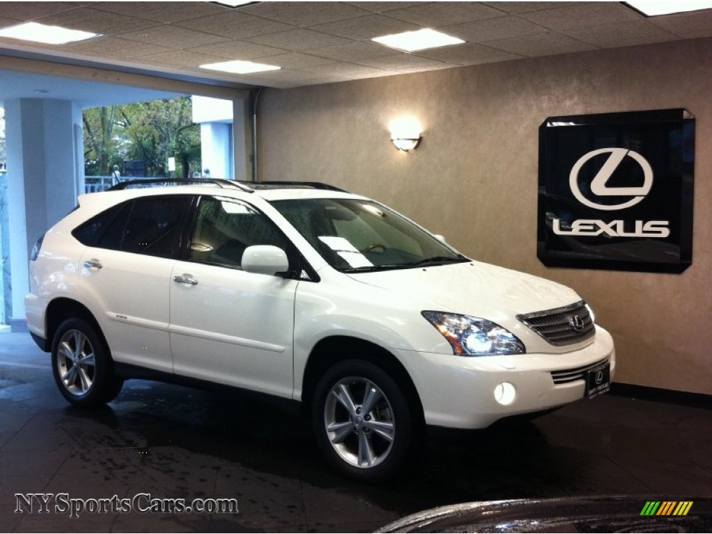 2008 lexus rx 400h awd hybrid in crystal white 064666. Black Bedroom Furniture Sets. Home Design Ideas