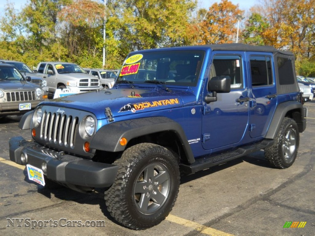 2010 Jeep Wrangler Unlimited Mountain Edition 4x4 in Deep Water Blue ...