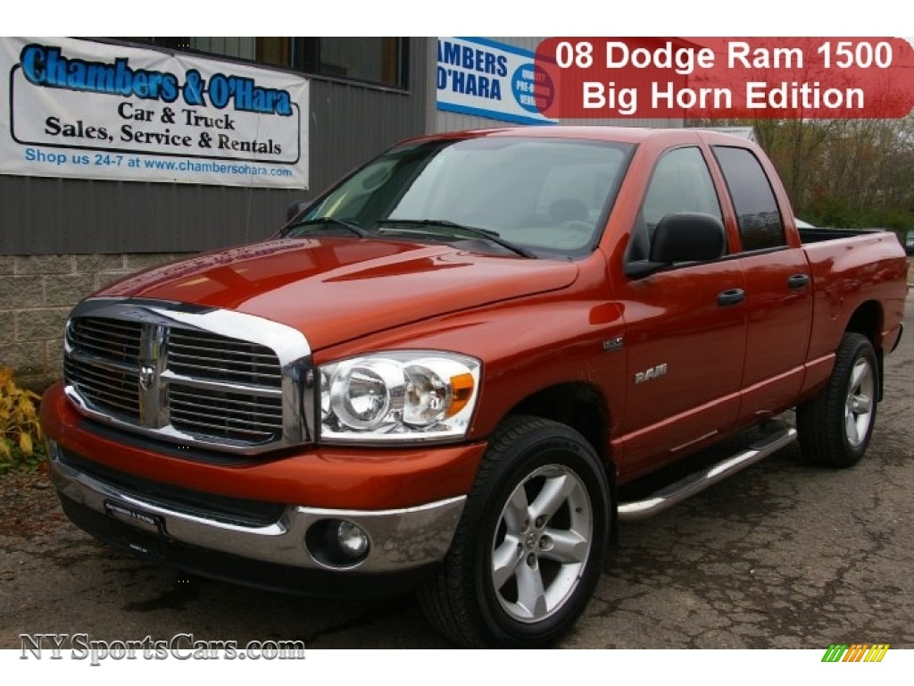 2008 dodge ram 1500 big horn edition quad cab 4x4 in inferno red crystal pearl s57338. Black Bedroom Furniture Sets. Home Design Ideas