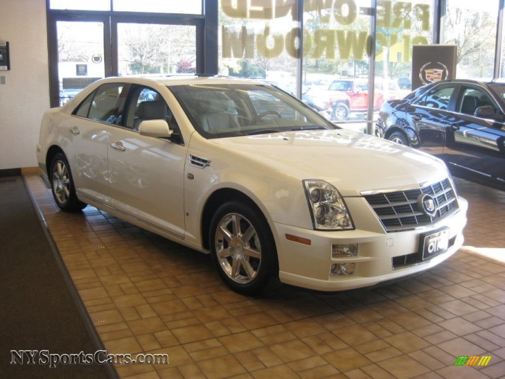 2009 Cadillac Sts 4 V6 Awd In White Diamond Tricoat