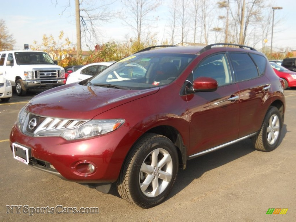 2010 Nissan Murano Sl Awd In Merlot Red Metallic 123788