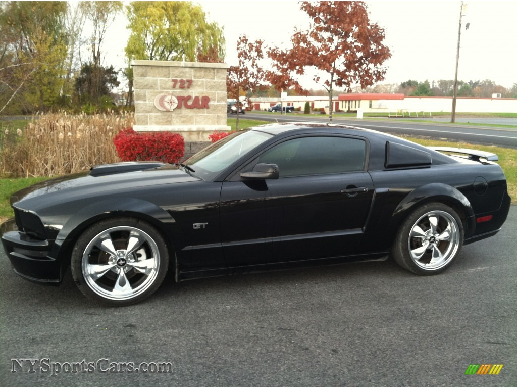 Black dark charcoal ford mustang gt deluxe coupe