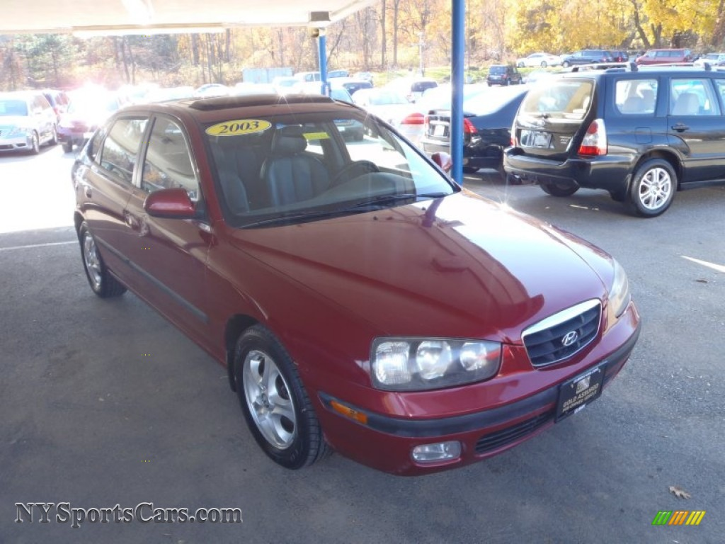 2003 hyundai elantra gt hatchback in chianti red 080427 cars for sale in. Black Bedroom Furniture Sets. Home Design Ideas