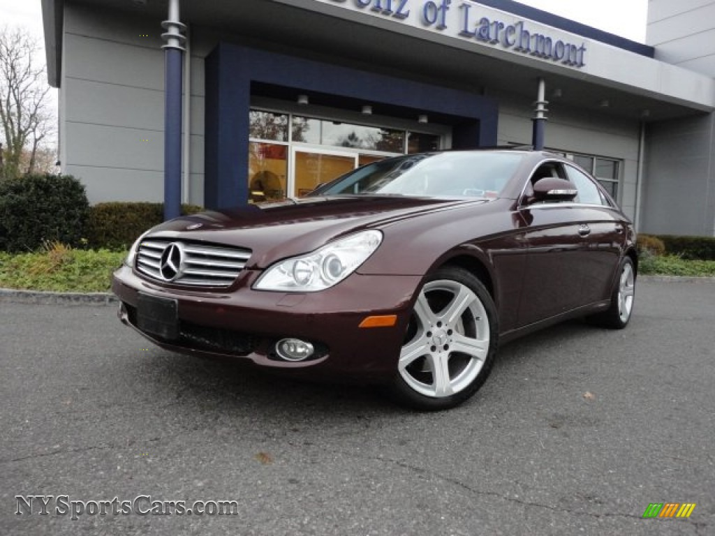 2006 Mercedes Benz Cls 500 In Bordeaux Red Metallic 063063 Sunset Photo 1