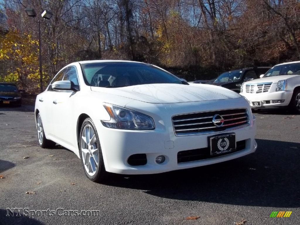 2009 nissan maxima 35 sv sport in winter frost white 835216 winter frost white frost leather nissan maxima 35 sv sport vanachro Choice Image
