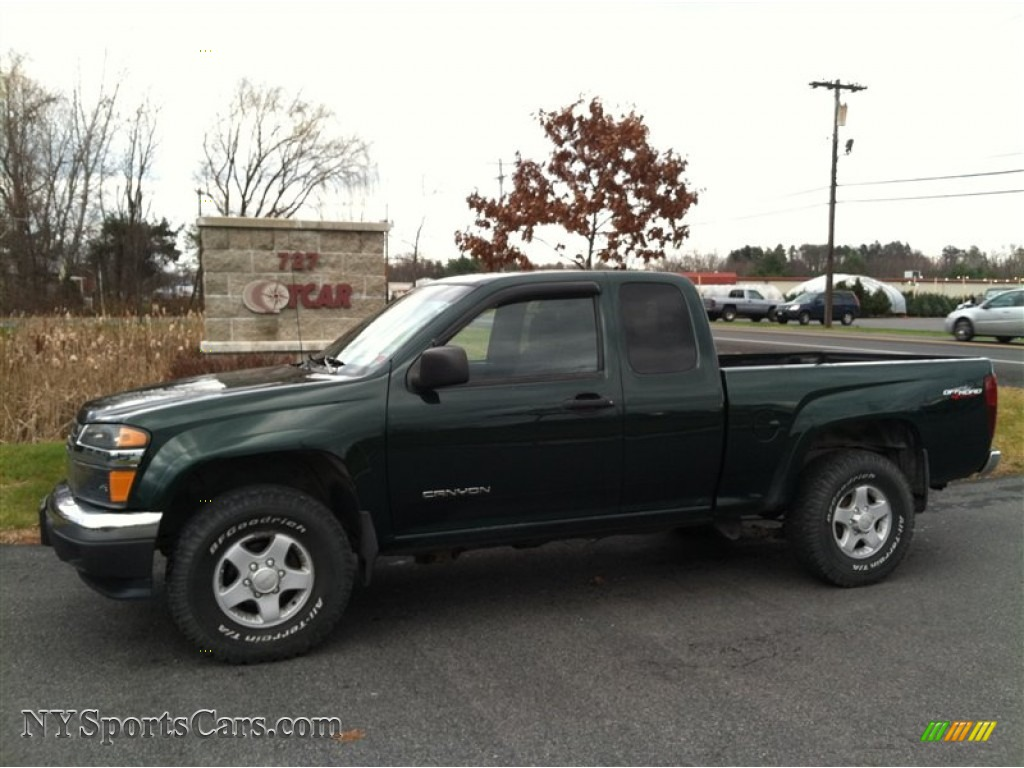 2004 gmc canyon sle extended cab 4x4 in polo green metallic 221502 cars. Black Bedroom Furniture Sets. Home Design Ideas