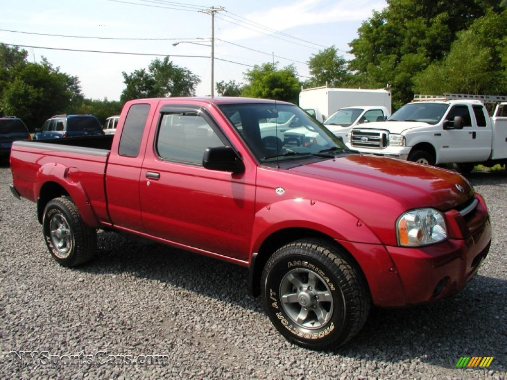2002 Nissan Frontier XE King Cab 4x4 in Molten Lava Red ...