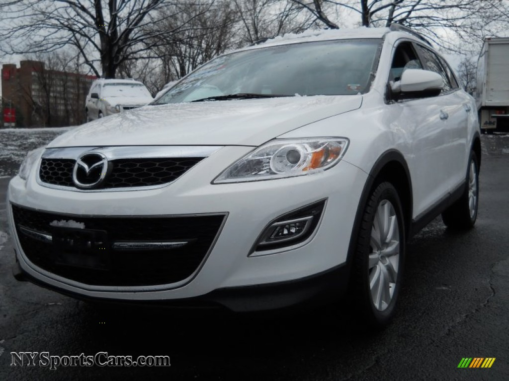 2010 CX-9 Grand Touring AWD - Crystal White Pearl Mica / Sand photo #1