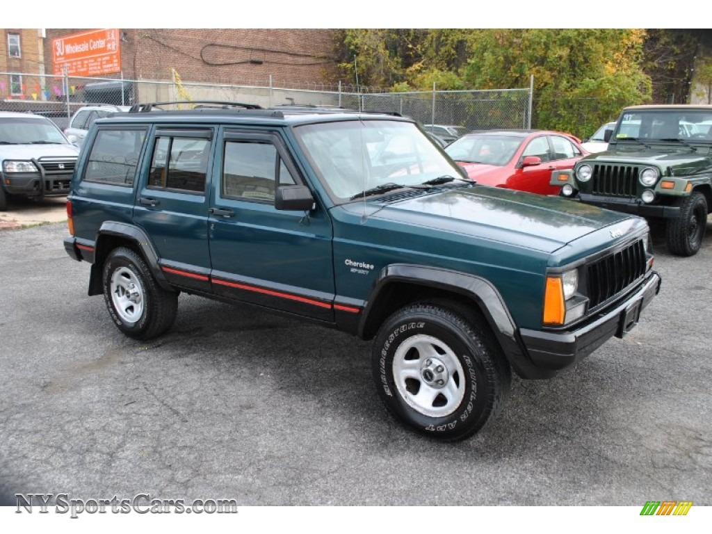 1996 Jeep Cherokee Sport 4WD in Bright Jade Green - 297319   NYSportsCars.com - Cars for sale in ...