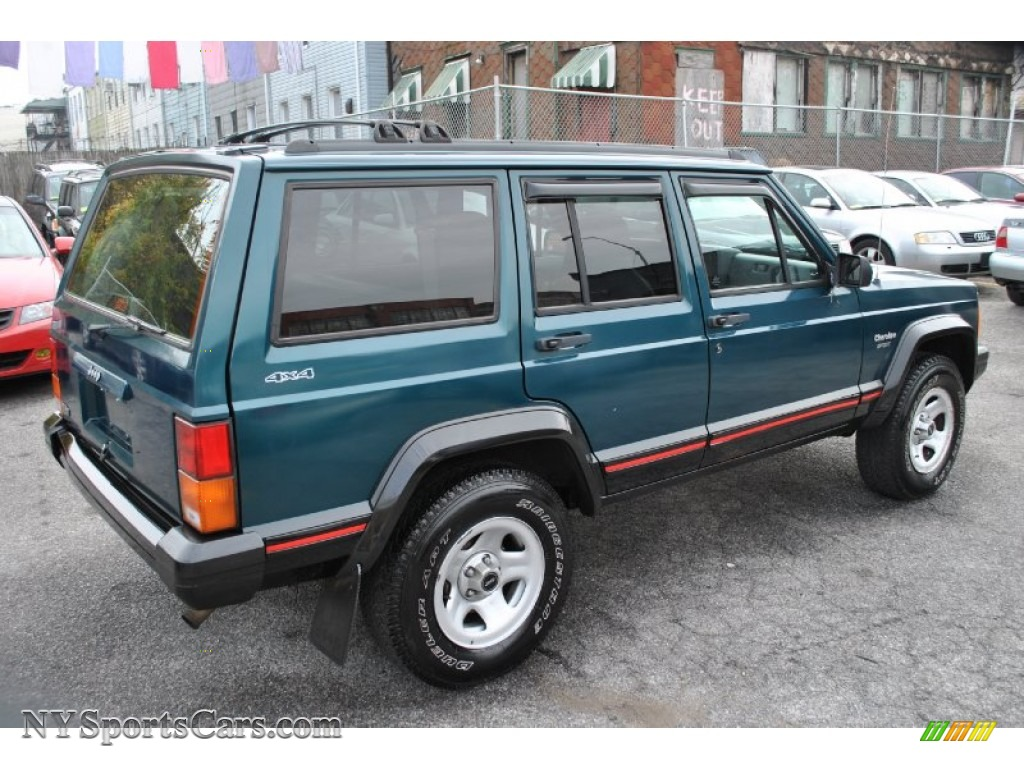 1996 Jeep Cherokee Sport 4wd In Bright Jade Green Photo 2 297319 Nysportscars Com Cars For Sale In New York