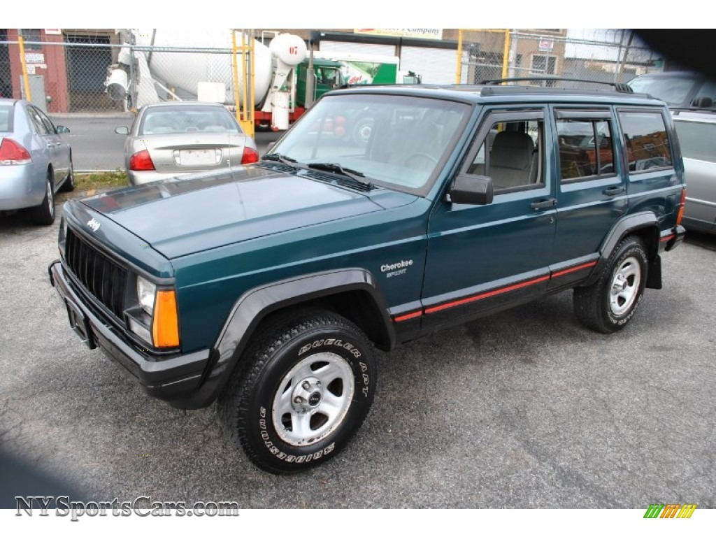 1996 Jeep Cherokee Sport 4wd In Bright Jade Green Photo 4 297319 Nysportscars Com Cars For Sale In New York