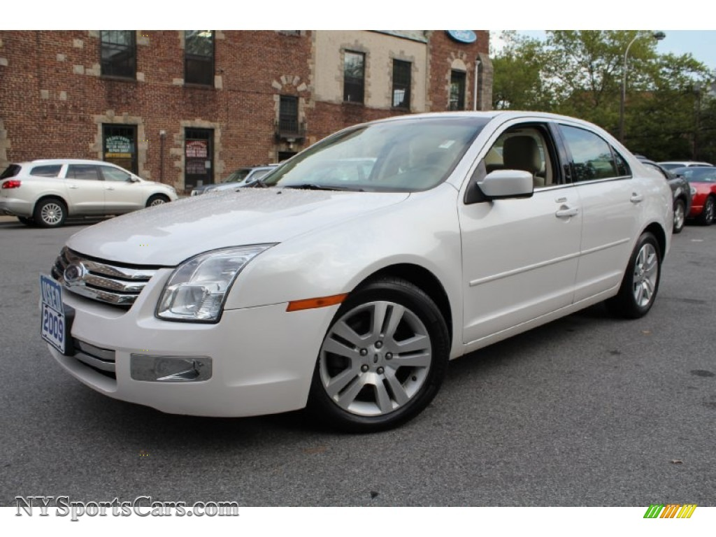 2009 ford fusion sel in white platinum tri coat metallic 216238 cars for. Black Bedroom Furniture Sets. Home Design Ideas
