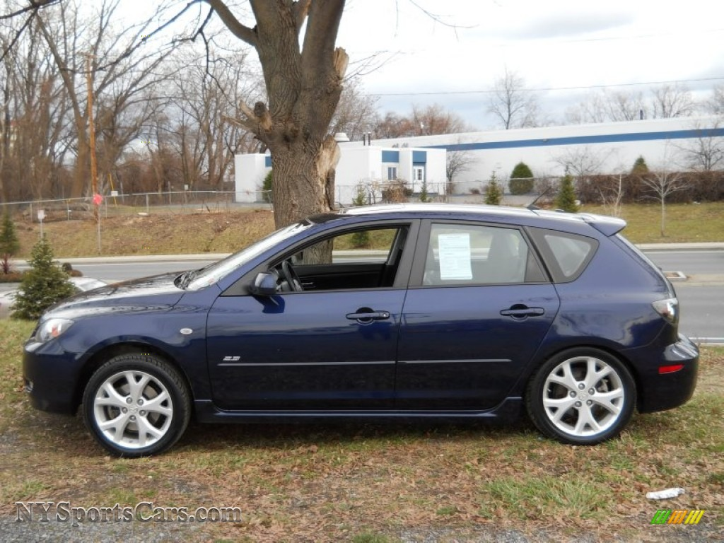 2009 mazda mazda3 s grand touring hatchback in stormy blue. Black Bedroom Furniture Sets. Home Design Ideas