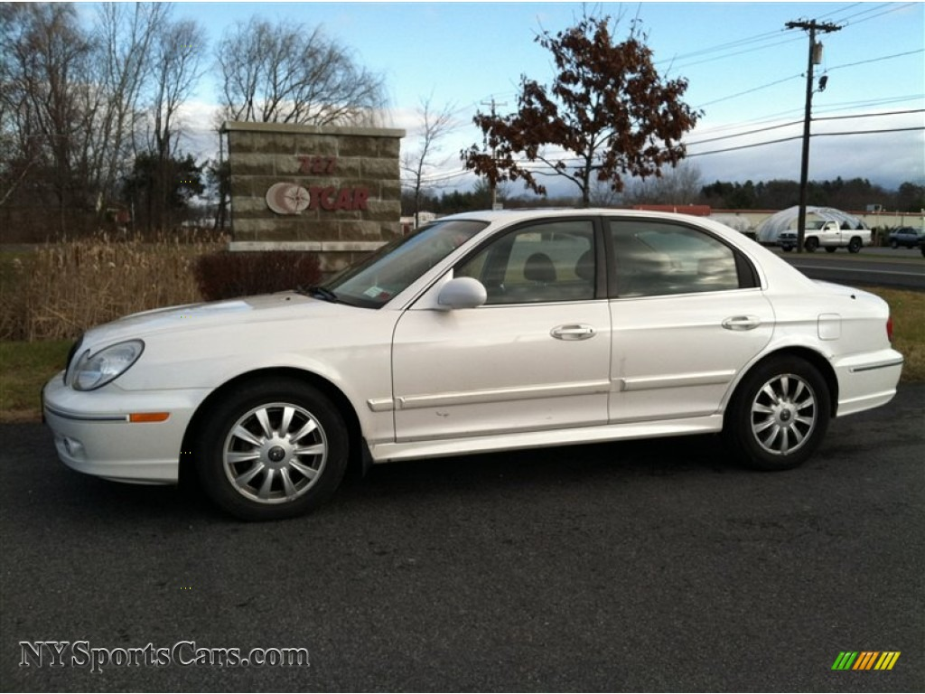 2003 hyundai sonata gls v6 in noble white 893364. Black Bedroom Furniture Sets. Home Design Ideas