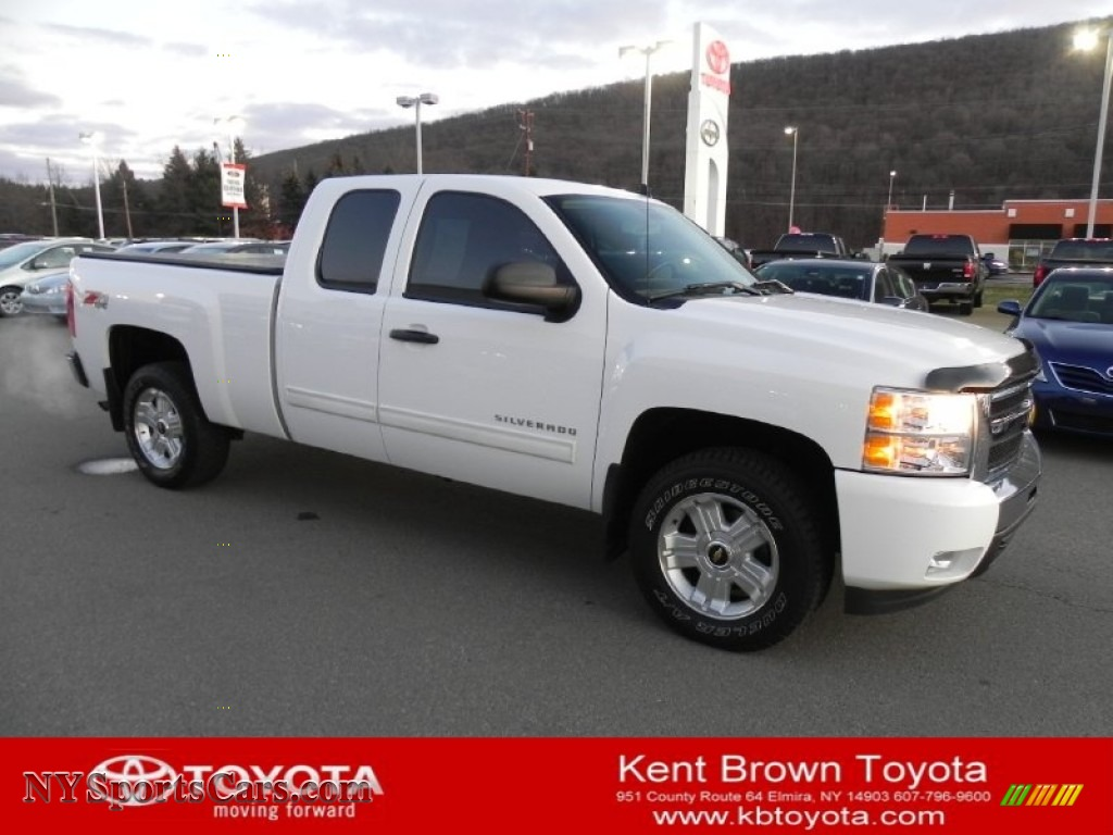 2010 chevrolet silverado 1500 lt extended cab 4x4 in summit white 107184. Black Bedroom Furniture Sets. Home Design Ideas