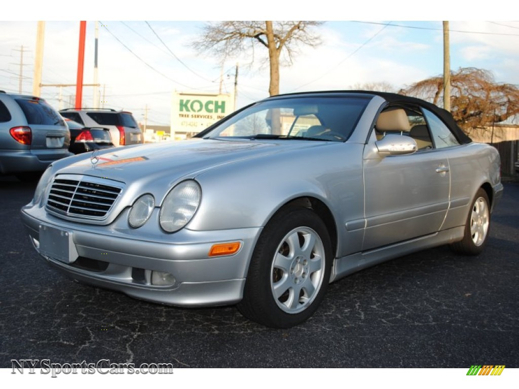 2000 mercedes benz clk 320 cabriolet in brilliant silver metallic 039753. Black Bedroom Furniture Sets. Home Design Ideas