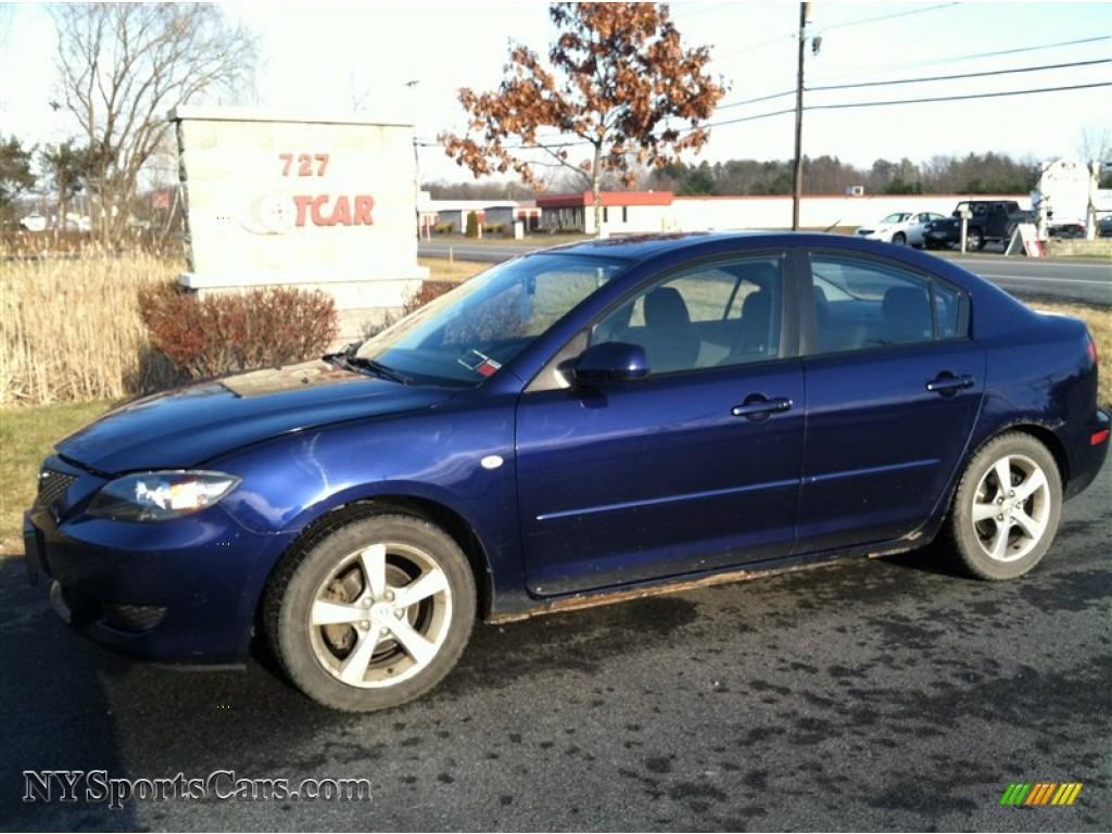 2005 Mazda Mazda3 I Sedan In Strato Blue Mica Photo 3